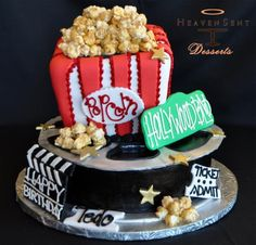 Hollywood-themed Birthday Cake