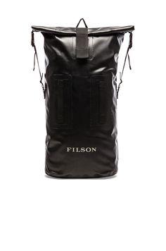 Filson Dry Duffle Backpack in Black | REVOLVE