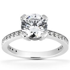 0.40 Cttw G VS Round Semi Mount Engagement Ring in 14k White Gold by…