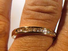 www.my3ladiesjewelry.com   10k yellow gold 24ct SI2 H unisex diamond by My3LadiesJewelry, $349.95