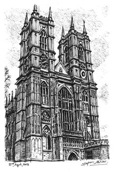 Westminster Abbey - drawings and paintings by Stephen Wiltshire MBE Building Drawing, Building Sketch, Building Art, Stephen Wiltshire, Leave Art, Architecture Drawings, Drawings Of Buildings, Architecture Artists, Famous Buildings