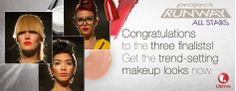 Project Runway All Stars Finale Makeup Looks- Bold and Bright, Sun Kissed  & Orange!