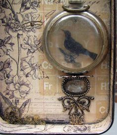 Ravens altered tin - PAPER CRAFTS, SCRAPBOOKING & ATCs (ARTIST TRADING CARDS)