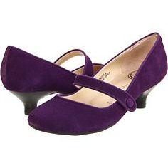 purple low heels
