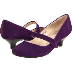 Purple Low Heel Dress Shoes