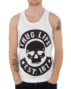Thug Life Big Skull Tank Shirt