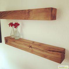 Wohnkantine - Wohnideen vom Holzmöbelkontor : Eichenregal