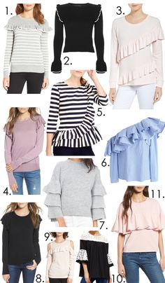 Ruffles are in! These are so cute and super girly to add to your wardrobe! See more on http://ablissfulnest.com/
