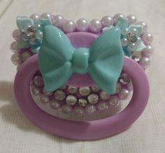 Teal Bow Pacifier · Baby Bat Creations · Online Store Powered by Storenvy