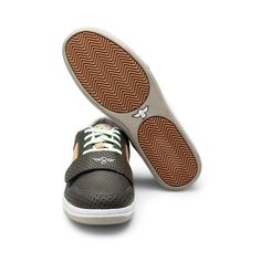 CREATIVE RECREATION - MUTL COL LOW BOAT SNEAKER  Go for the boy next door look by Creative Recreation in punched polka textured brown with some sea green and apricot hues thrown in. Wear with jeans or casual pants in lighter shades of brown.