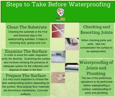 Here you can find some necessary #steps that you need to follow before going for the #waterproofing solutions.