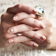 Pin for Later: The 64 Best Works of Nail Art This Year May This rhinestone nail art look is ideal for a modern bride.