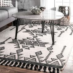 Shop for nuLOOM Ivory Aztec Crystal Drops Tassel Wool Handmade Area Rug. Get free delivery at Overstock - Your Online Home Decor Store! Get in rewards with Club O! Room Rugs, Rugs In Living Room, Handmade Design, Handmade Rugs, Area Rugs For Sale, Crystal Drop, Online Home Decor Stores, Online Shopping, Wool Area Rugs