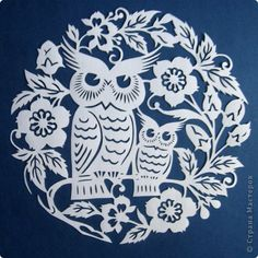 Paper Cutting Patterns, Paper Cutting Templates, Wood Carving Patterns, Art Template, Cardboard Crafts, Paper Crafts, Diy Postcard, Owl Coloring Pages, Animal Stencil
