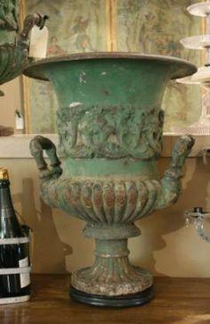 Antique cast iron medici urn