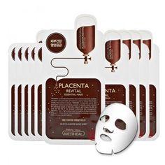 [Mediheal] Placenta Revital Essential Mask Silk Cellulose Facial Skin Sheet   #Mediheal