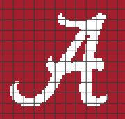 University of Alabama - Pillow Crochet Graphghan Pattern (Chart/Graph AND Row-by-Row Written Instructions) - 03
