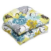 Found it at Wayfair Supply - Floral Fantasy Wicker Seat Cushion