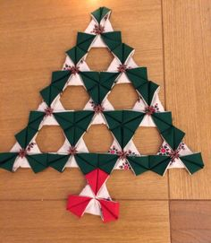 Origami patchwork Christmas tree