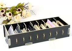 Modern vertical business card holder is the perfect companion with visitkort organizer box reheart Image collections