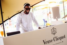 Veuve Clicquot Gold Cup Picnic.  Veuve Clicquot Gold Cup Picnic.  Tinie Tempah DJing. #champagne #events #photography #branding #marketing Photography Branding, Event Photography, Tinie Tempah, Veuve Clicquot, Gold Cup, Polo Club, Corporate Events, Champagne, Picnic
