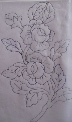 Hand embroidery all over design for dress Floral Embroidery Patterns, Hand Embroidery Stitches, Crewel Embroidery, Hand Embroidery Designs, Applique Patterns, Beaded Embroidery, Fabric Paint Designs, Fabric Painting, Painting Patterns