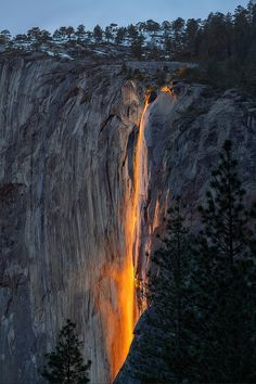 Firefalls, Yosemite National Park, California