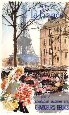 1950 Paris Poster