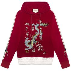 Gucci Velvet Sweatshirt With Dragon Appliqué (24.995 ARS) ❤ liked on Polyvore featuring men's fashion, men's clothing, men's hoodies, men's sweatshirts, men, ready-to-wear, sweatshirts, mens sweatshirts and hoodies, mens sweatshirts and mens red sweatshirt