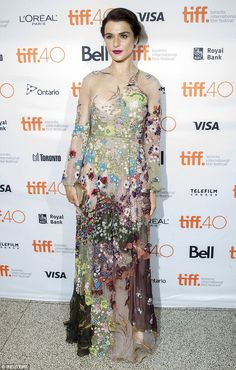 Simply stunning: Rachel Weisz looked gorgeous on Saturday, as she appeared without husband...