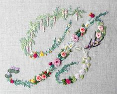 Mille fiori alphabet - B — French Needlework Kits, Cross Stitch, Embroidery, Sophie Digard — The French Needle
