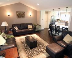 remodeled living room with additional seating