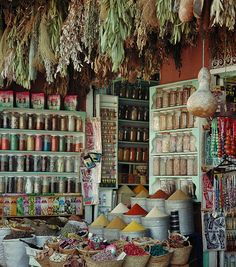 Morocco.Marrakech...Spice Shop