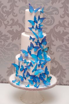 Hochzeit Schmetterlinge #hochzeitstorte