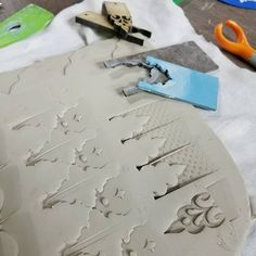 """181 Likes, 3 Comments - Rovin Ceramics (@rovin_ceramics) on Instagram: """"Lindsay Scypta workshop is off to a great start. Check out these custom tools and textures!…"""""""