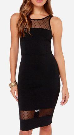 Midi Slicker Black Midi Dress