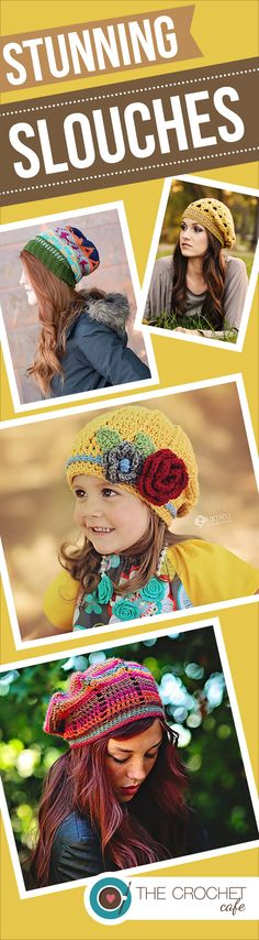 Crochet Patterns for beautiful slouchy hats