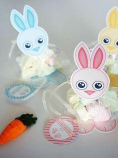 Como hacer bolsitas de conejo para regalo de pascua