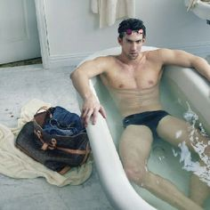 Michael Phelps for LV - photo by Annie Leibowitz
