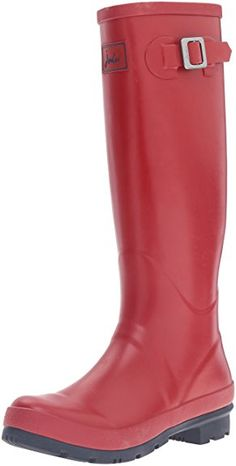 Joules Women's Field Welly Rain Boot, Red, 7 M US: A must for wet weather, our ever-popular field wellies are perfect for mucking out and mucking about. when the sky looks a little cloudy, look no further than these classic boots. Ladies Wellies, Comfortable Boots, Snow Boots Women, Cool Boots, Hunter Boots, Knee High Boots, Joules, Rubber Rain Boots