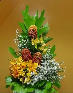 My tropical flowers arrangement using honeycomb ginger asters and alstroemeria.