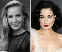 Dita von teese:before and after