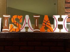 Custom Sports Themed Hand Painted Wooden by LuvLetterCreations themed birthday party ideas Sports Themed Birthday Party, 2nd Birthday Parties, Boy Birthday, Birthday Ideas, Baby Shower Themes, Baby Boy Shower, Shower Ideas, Sports Baby, Sport Theme