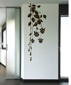 Vinyl Wall Decal Sticker Hanging Flowers from StickerBrand. Shop more products from StickerBrand on Wanelo. Simple Wall Paintings, Creative Wall Painting, Wall Painting Decor, Mural Wall Art, Creative Walls, Wall Decor, Vinyl Wall Art, Wall Painting Flowers, Simple Wall Art