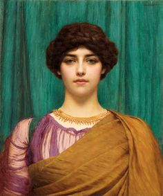 The Athenaeum - A Pompeian Lady (John William Godward - )