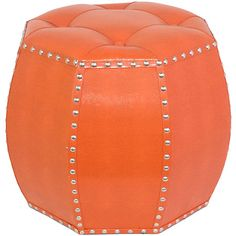 I pinned this Rafi Ottoman in Orange from the Preppy Pops event at Joss and Main!