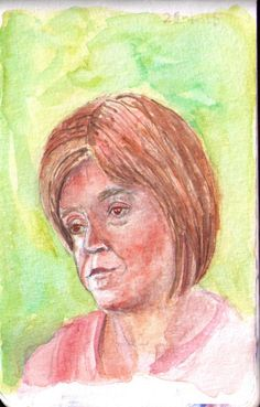 Click here for the original photo This is Nicola Sturgeon, first minister of Scotland. I think her skintone turned out a little bit too dark, and hair is still very difficult. But I do think it's i...