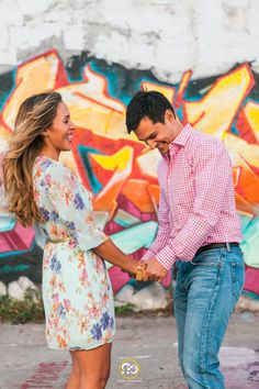 Walls of Wynwood - Engagement Photography Session in the Art District Miami - Graffiti Land Sessions by Award Winning Miami Wedding Photographer #ezekiele
