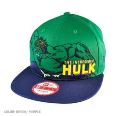 Show off this smashing New Era x Marvel Comics Hulk Heroic Stance Snapback! This 9FIFTY ball cap features an embroidered Hulk along with