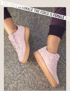 THE FORCE IS FEMALE for this Nike Air force 1 suede #promotion
